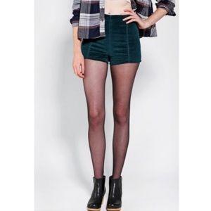 UO Kimchi Blue High Waist velvet shorts